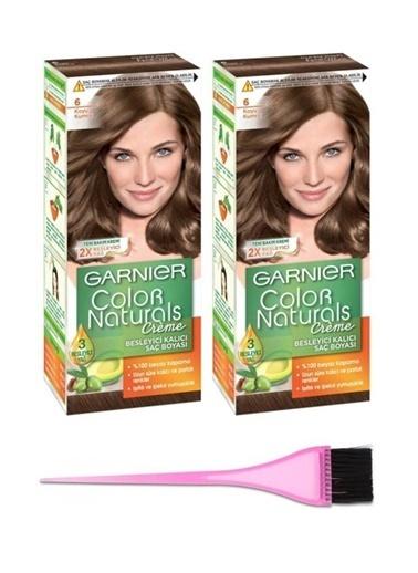 Garnier Garnier 2 Adet Color Naturals Saç Boyası 6 + Boya Fırçası Renksiz